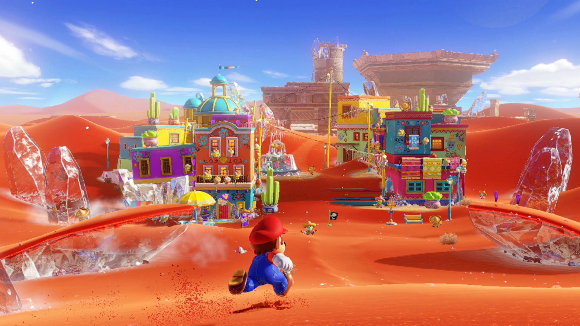 screenshot of Mario Odyssey's sand kingdom.