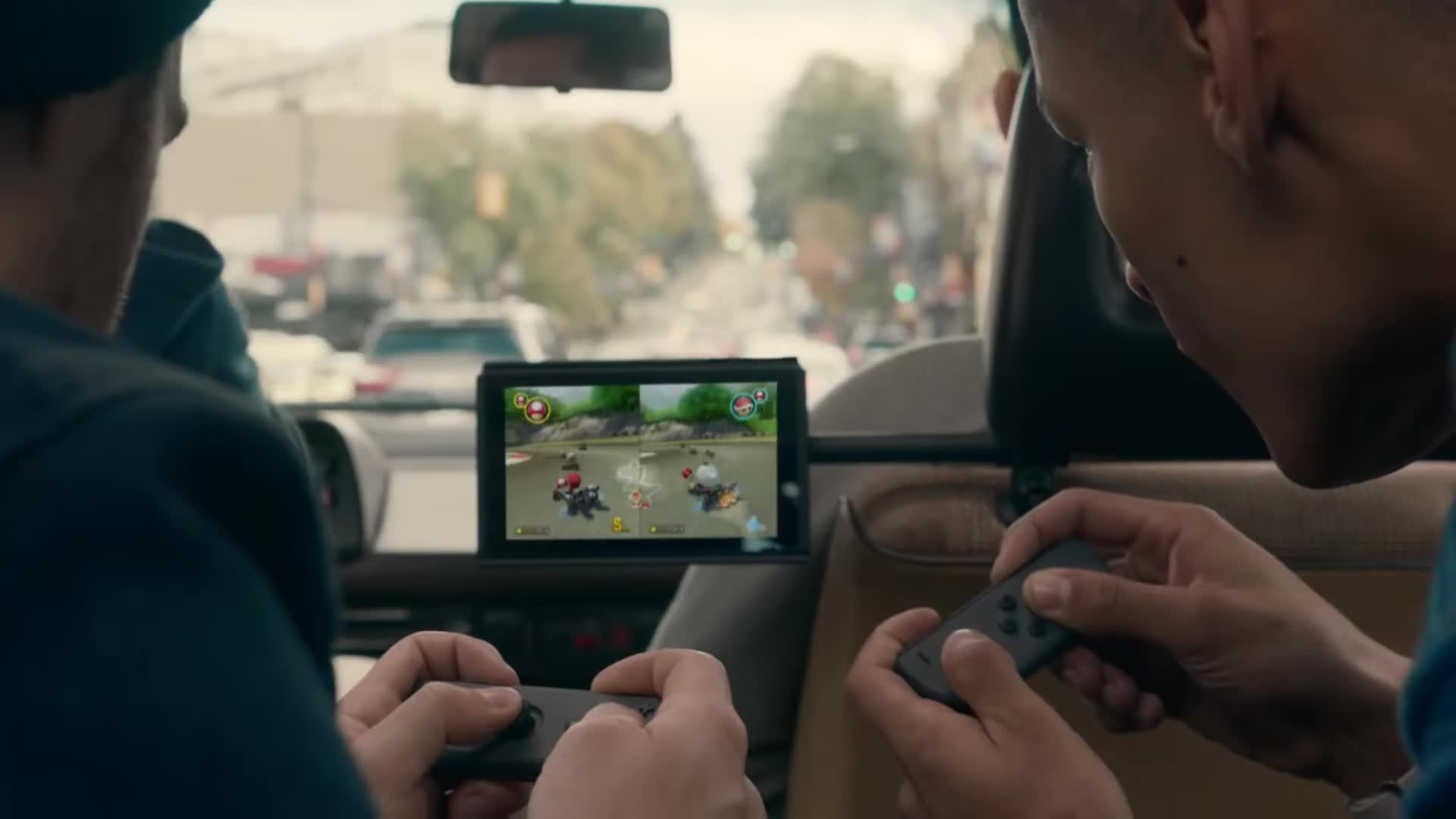Mario kart eight in the Switch reveal trailer.